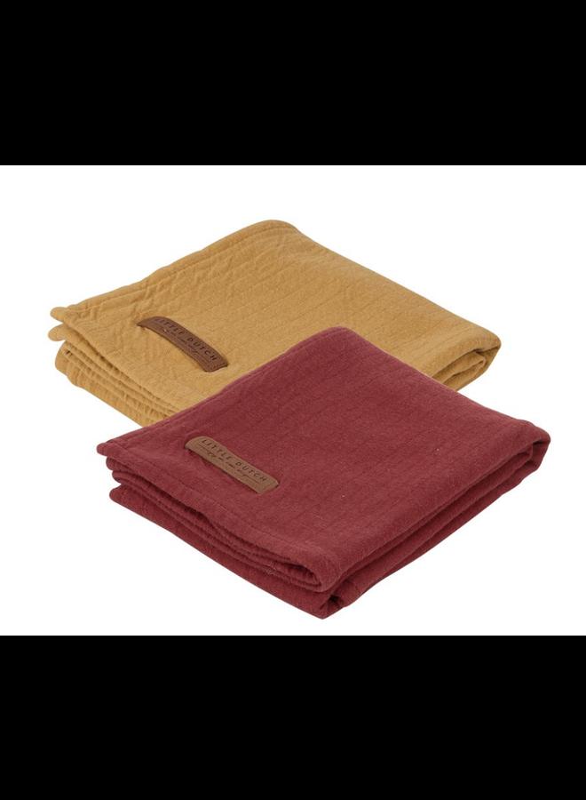 Swaddle doeken 70 x 70 - Pure Indian Red /ochre