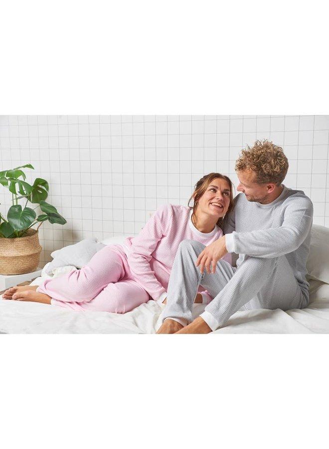 Pyjama wafel - Roze - Family Edition