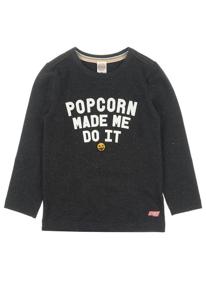 Longsleeve Popcorn - Popcorn Power - Zwart Melange