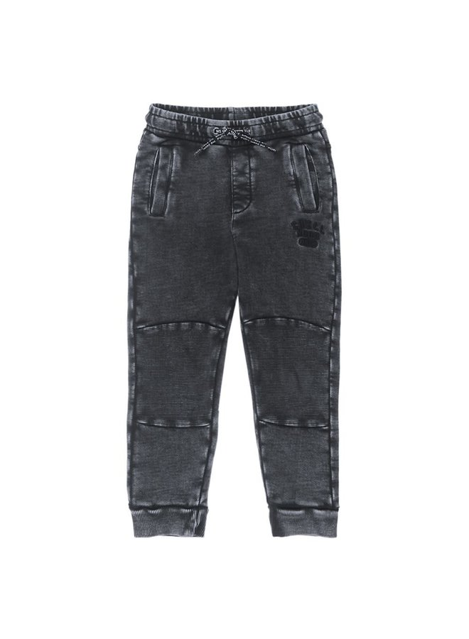 Broek Acid Wash - Popcorn Power - Antraciet