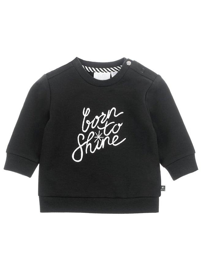 Sweater Born To Shine - Hello World - Zwart