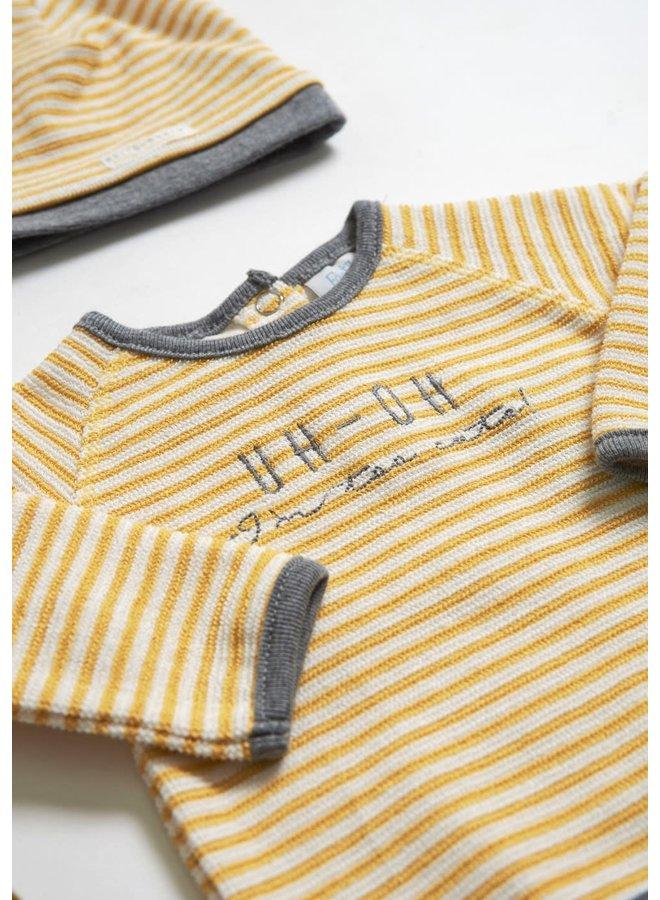 Sweater - I'm New Here - Okergeel