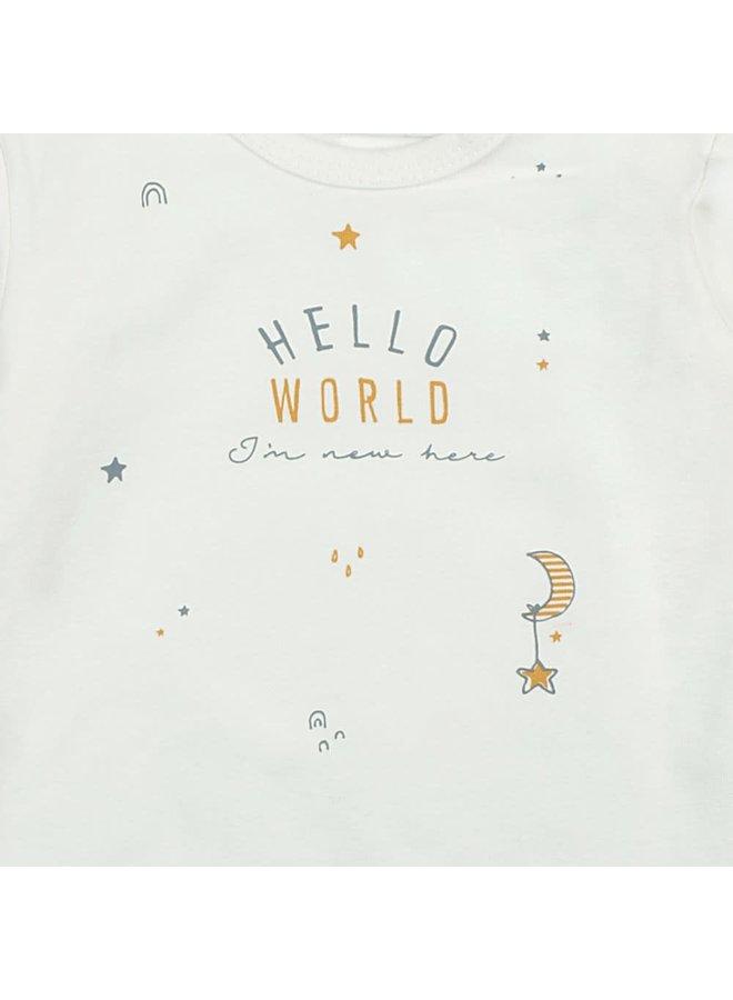 Longsleeve Hello World - I'm New Here - Offwhite