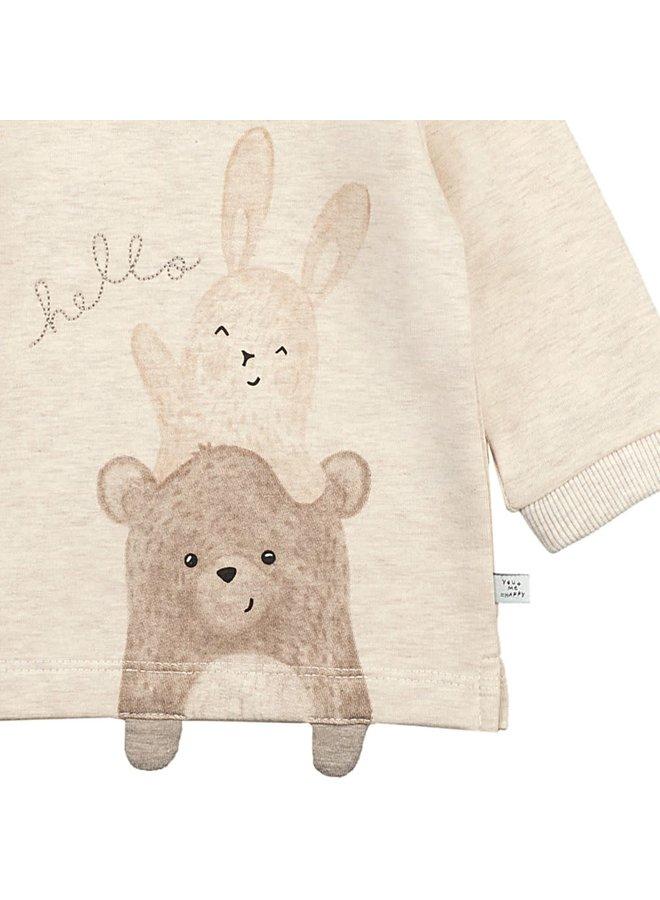 Sweater - Happy - Offwhite Melange