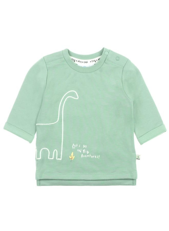 Sweater Let's Go - Dino - Mint