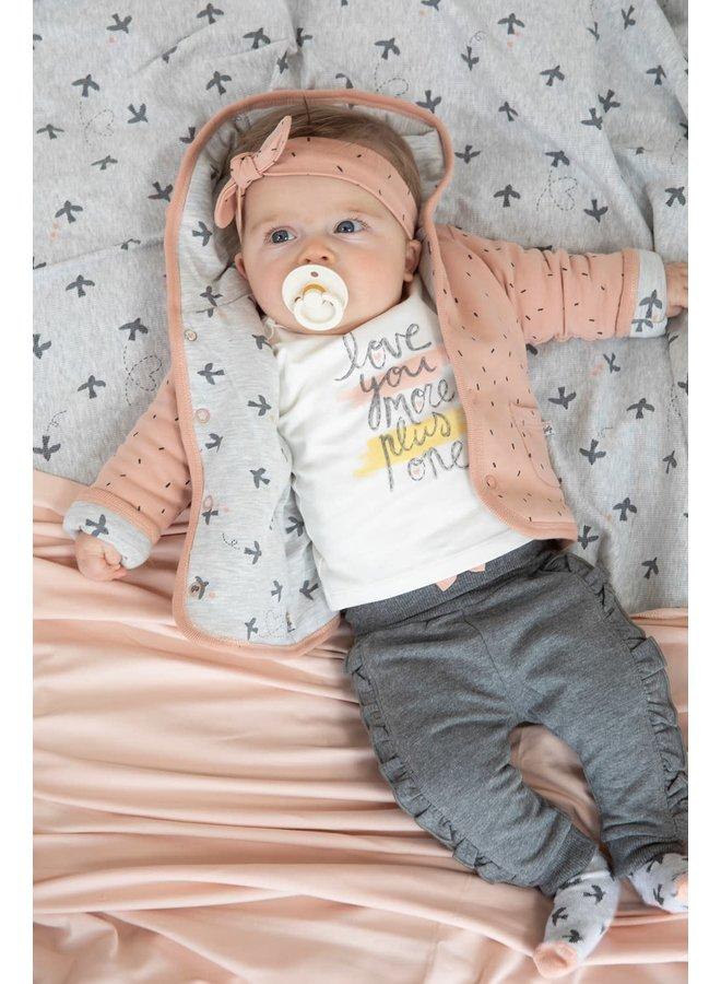 Broek - Little and Loved - Antraciet Melange