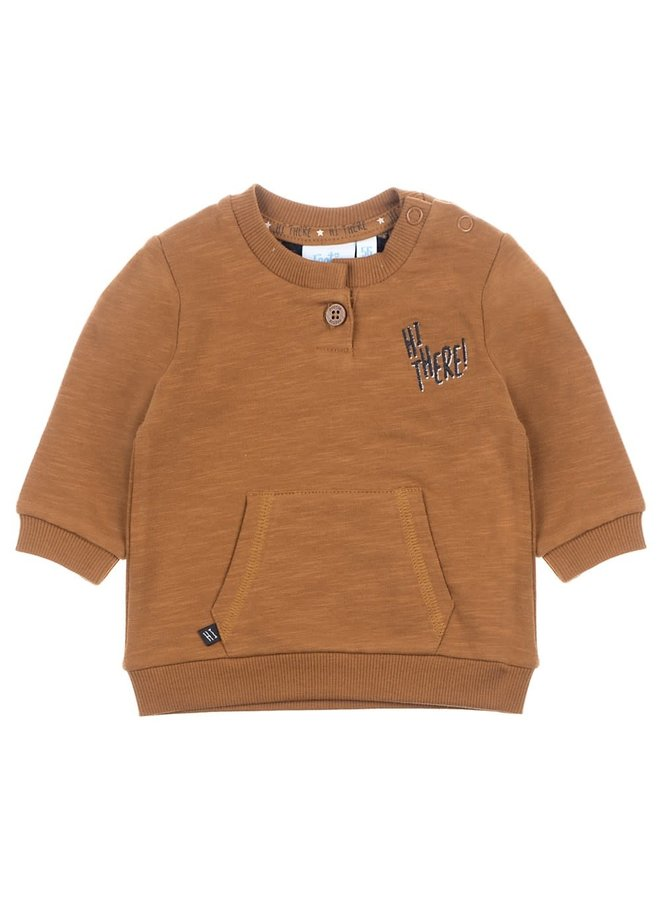 Sweater - Hi There - Camel