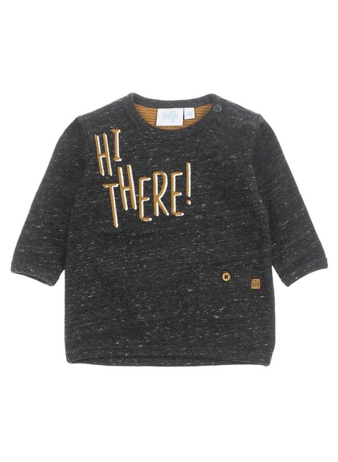 Sweater - Hi There - Antraciet Melange