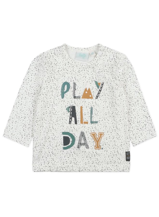 Longsleeve Play All Day - Cars - Offwhite