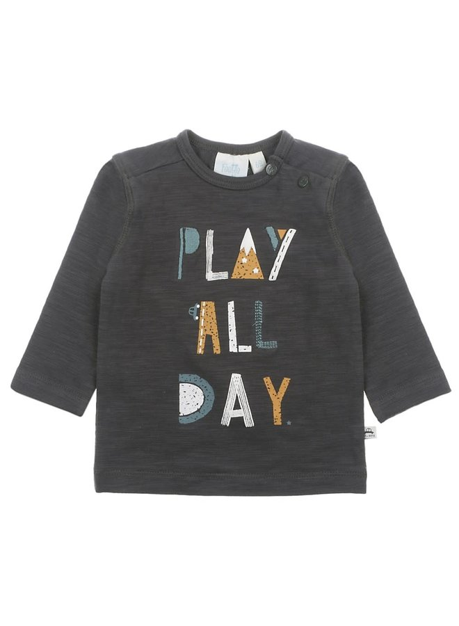 Longsleeve Play All Day - Cars - Antraciet