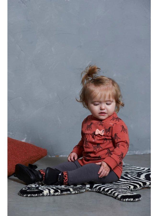 Sweater AOP - Zebra - Brique
