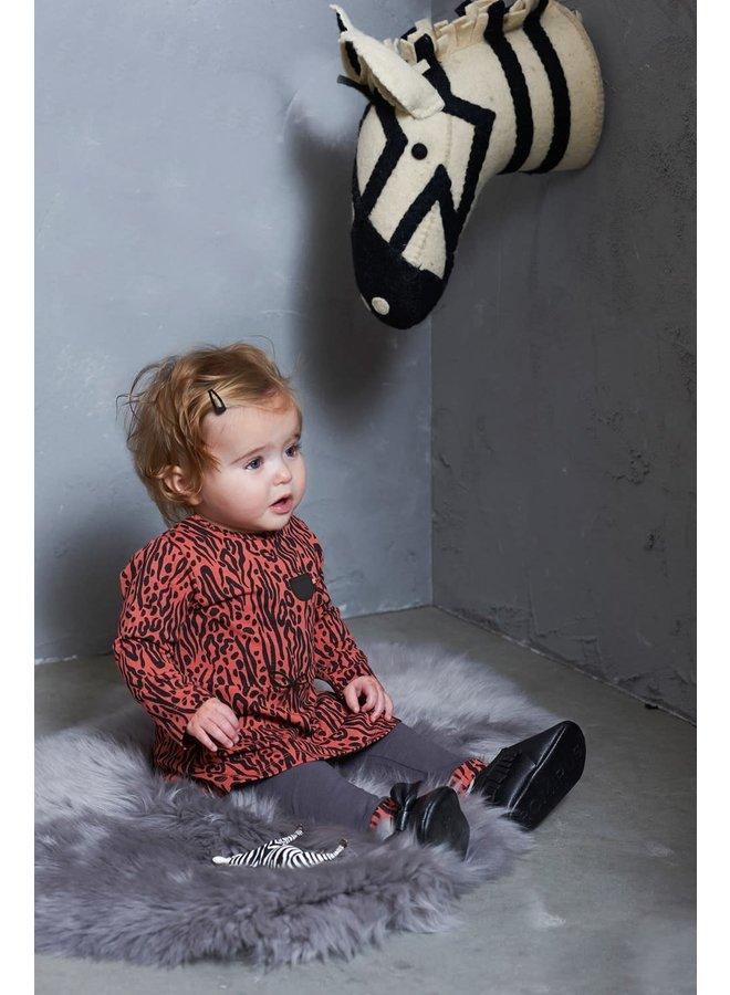 Legging - Zebra - Antraciet