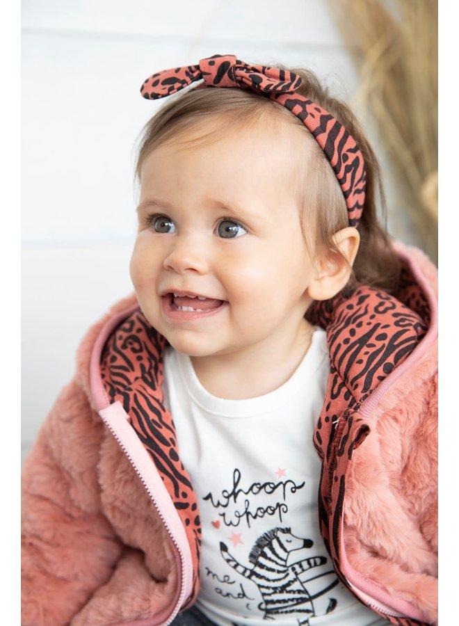 Haarband - Zebra - Brique
