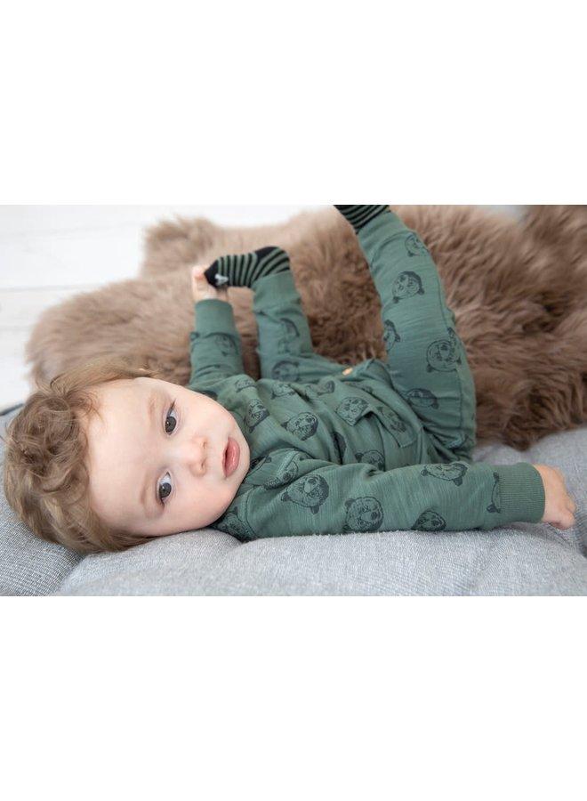Sweater AOP - Bear Hugs - Army