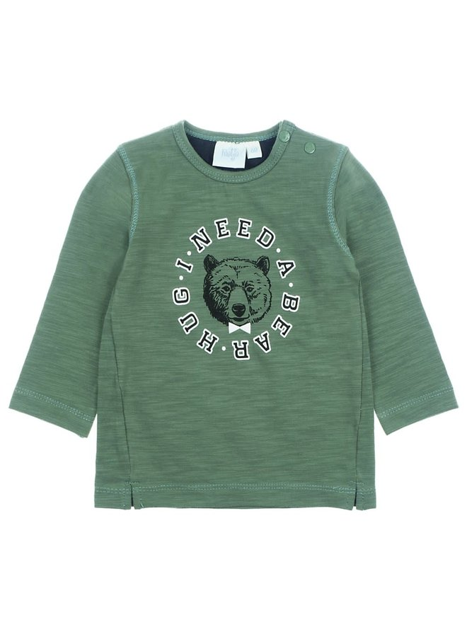 Longsleeve I Need - Bear Hugs - Army