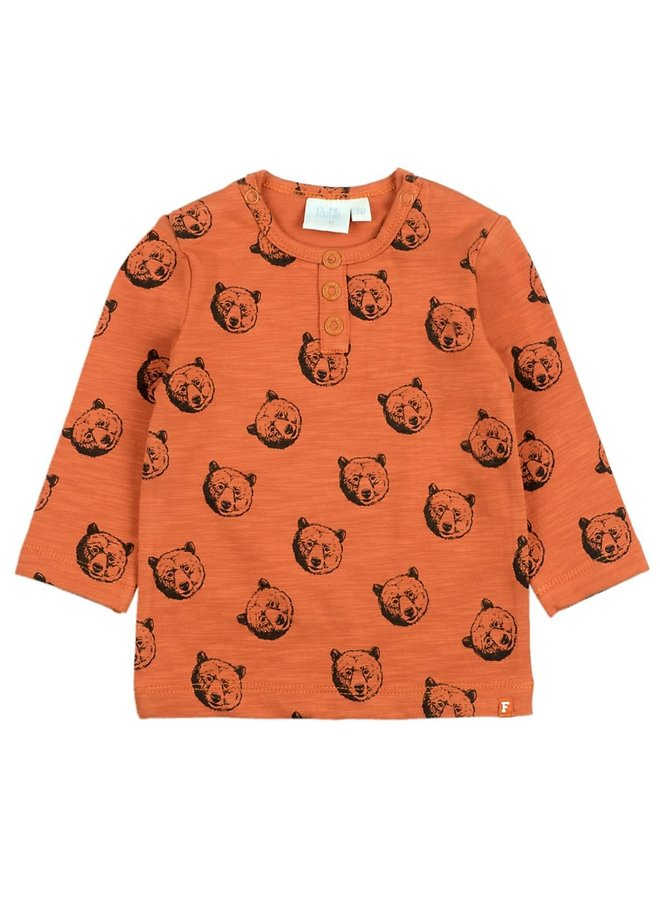 Longsleeve AOP - Bear Hugs - Brique