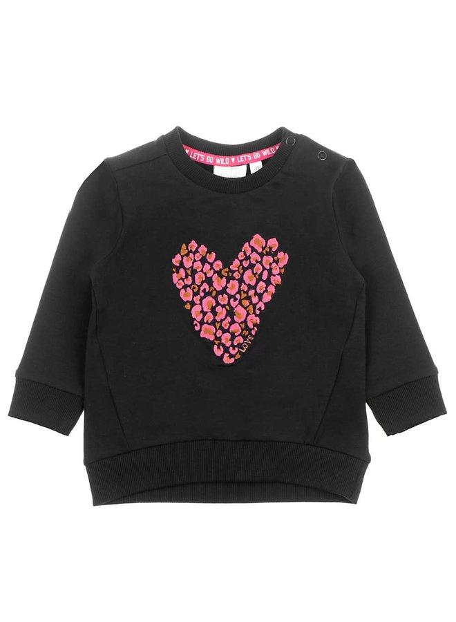 Sweater - Animal Attitude - Zwart