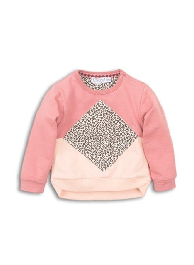 Baby Sweater - Dark old pink + Faded peach + OAP