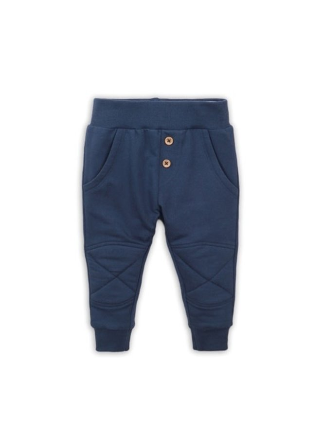 Baby Trousers - Buttons - Navy