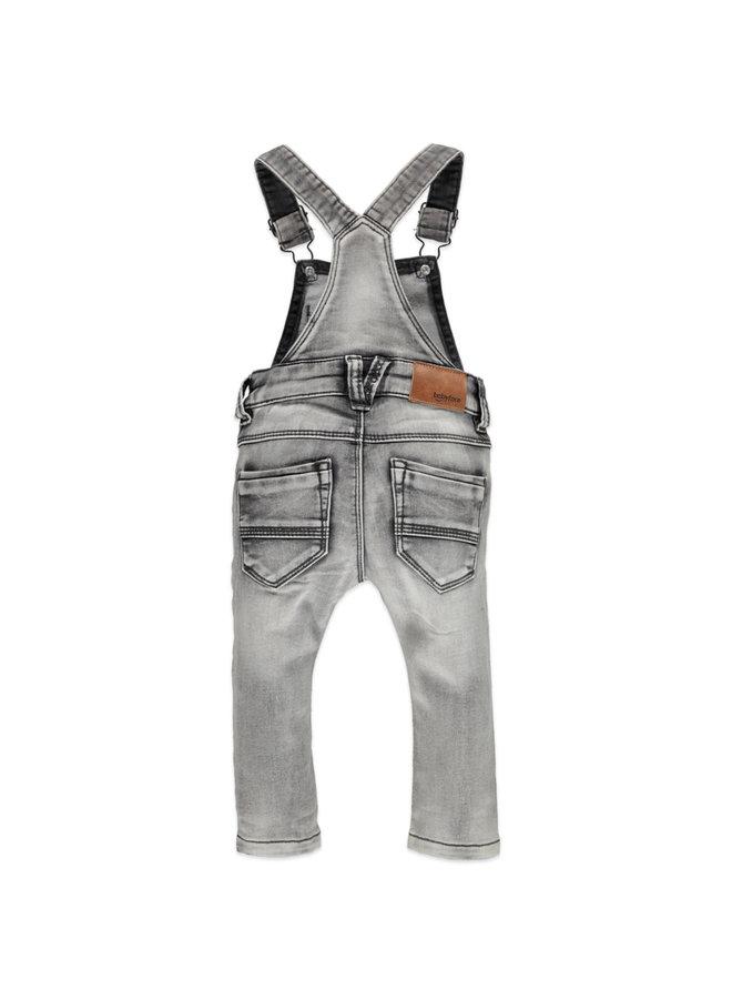 Boys Jogg Jeans Dungaree - Mid Grey Denim