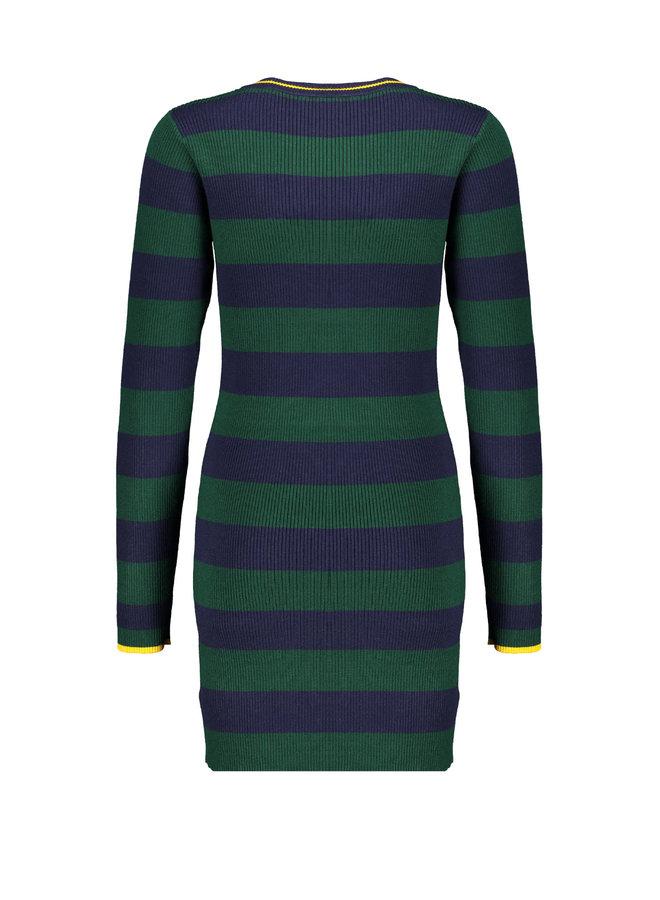 Mara - Ribknit Striped Dress