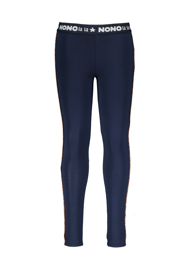 Sole legging with bronze piping at sides