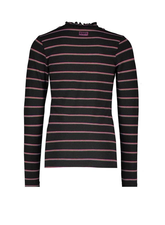 Girls - Lurex YDS shirt with coll - YDS Sparkling stripe