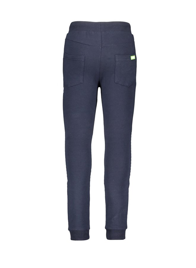 Boys - quilted sweat pants with folded knee parts - Oxford Blue