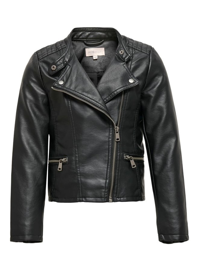 Freya - Faux Leather Biker Jkt