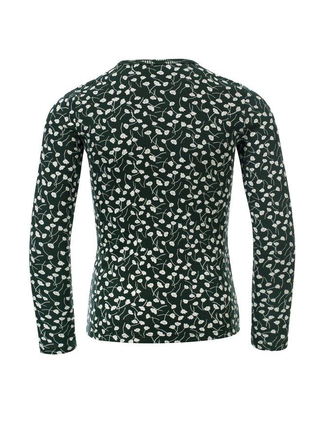 Rib T-Shirt Longsleeve - Forrest
