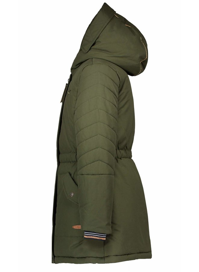 Brenda Hooded Parka - Army Green