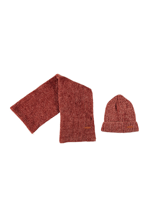 Nono Winterset Scarf + Beanie - Indian Rose