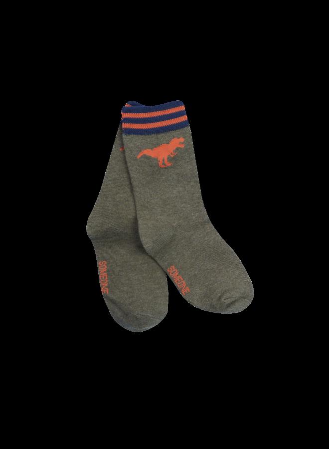 Socky Multi - Dino