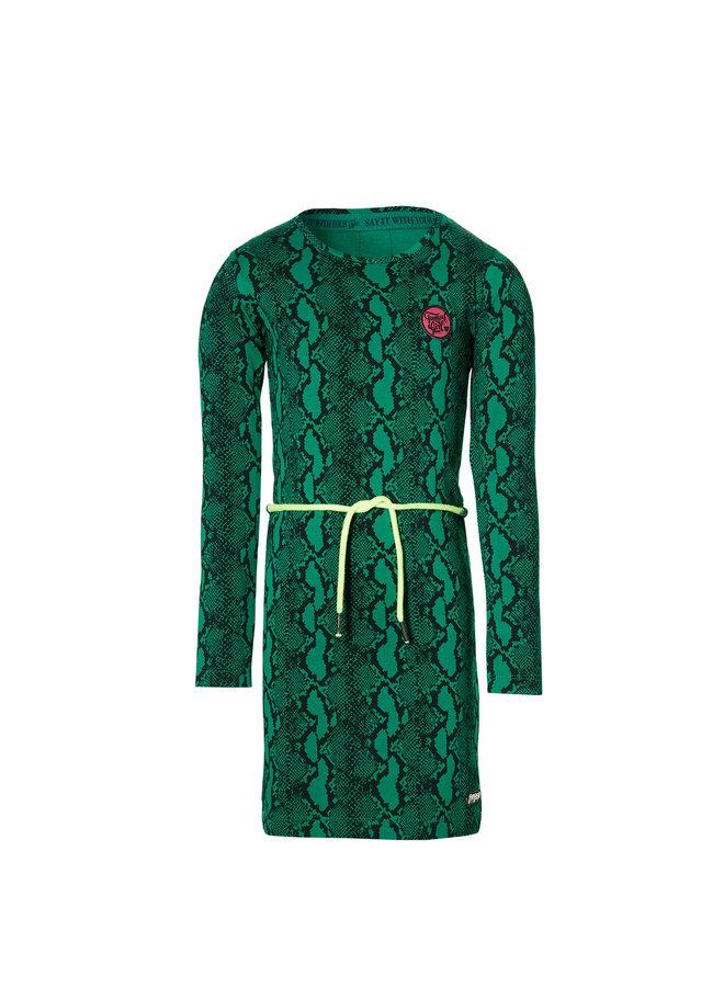 Daantje - Dress - Green Snake