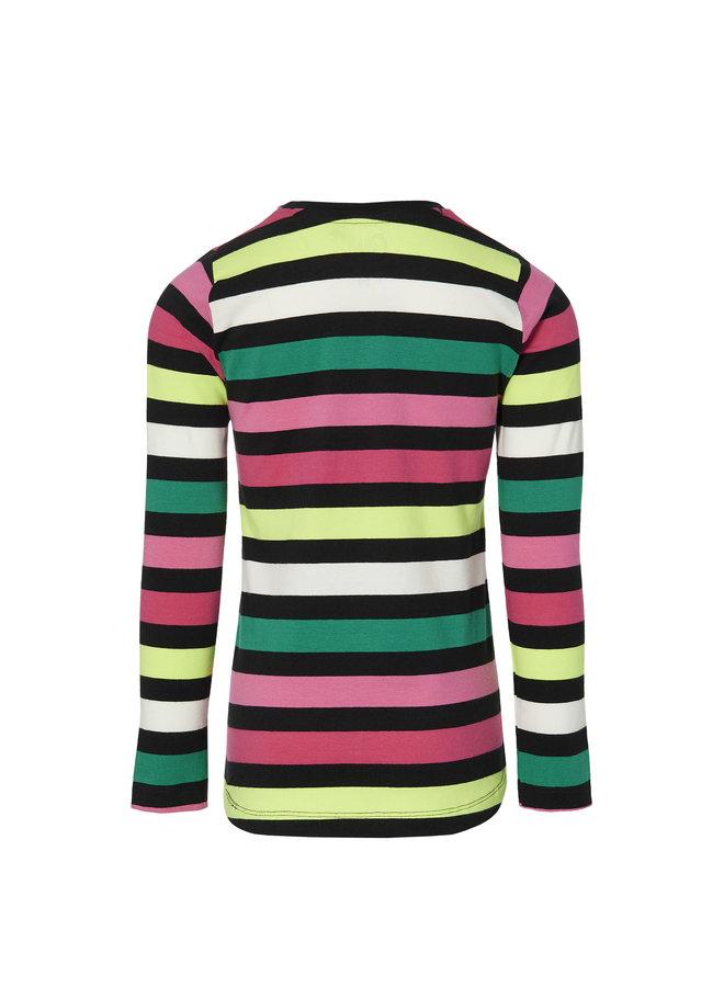 Daniela - Longsleeve - Multi Color Stripe