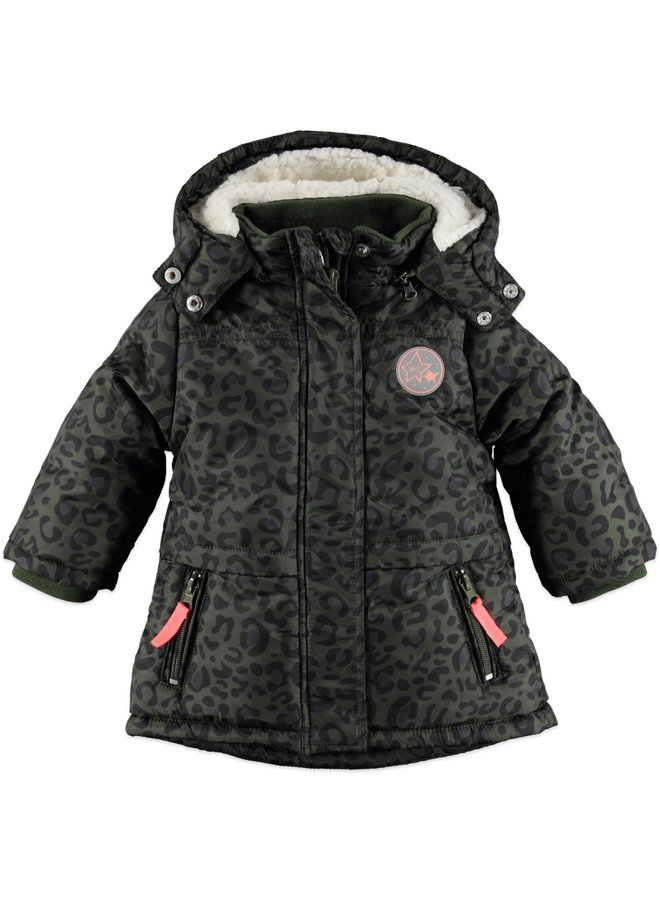 Girls Winter Parka - Green Army