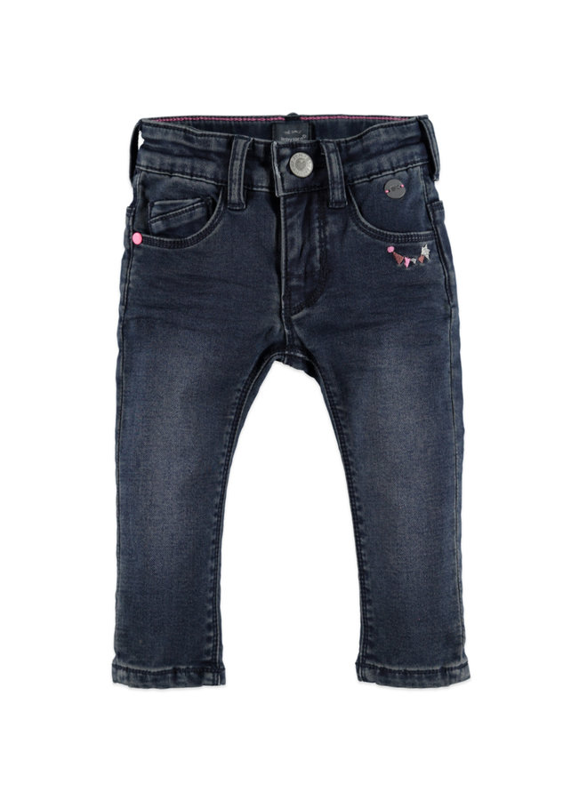 Girls Jogg Jeans - Dark Blue Denim