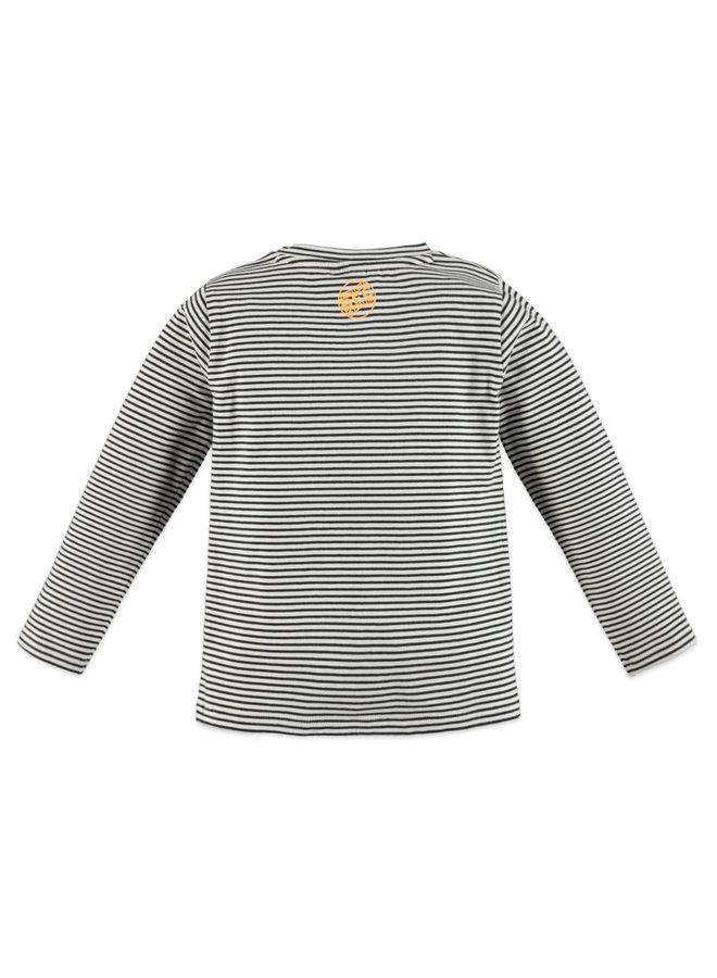 Boys T-shirt Long Sleeve Striped - Off White