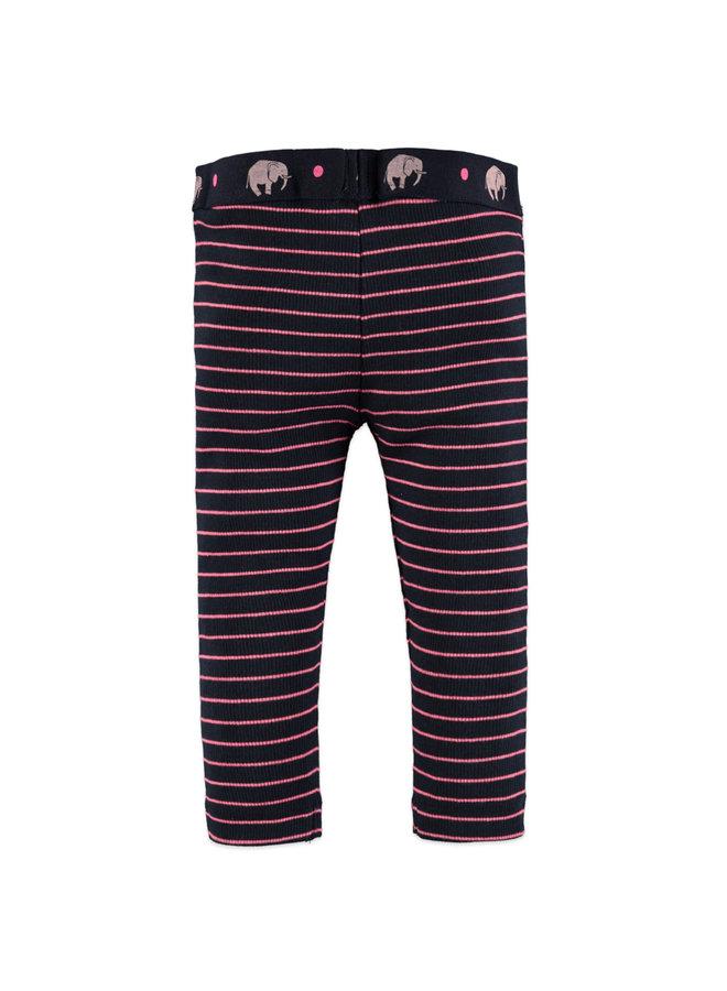 Girls Legging Striped - Blue Night