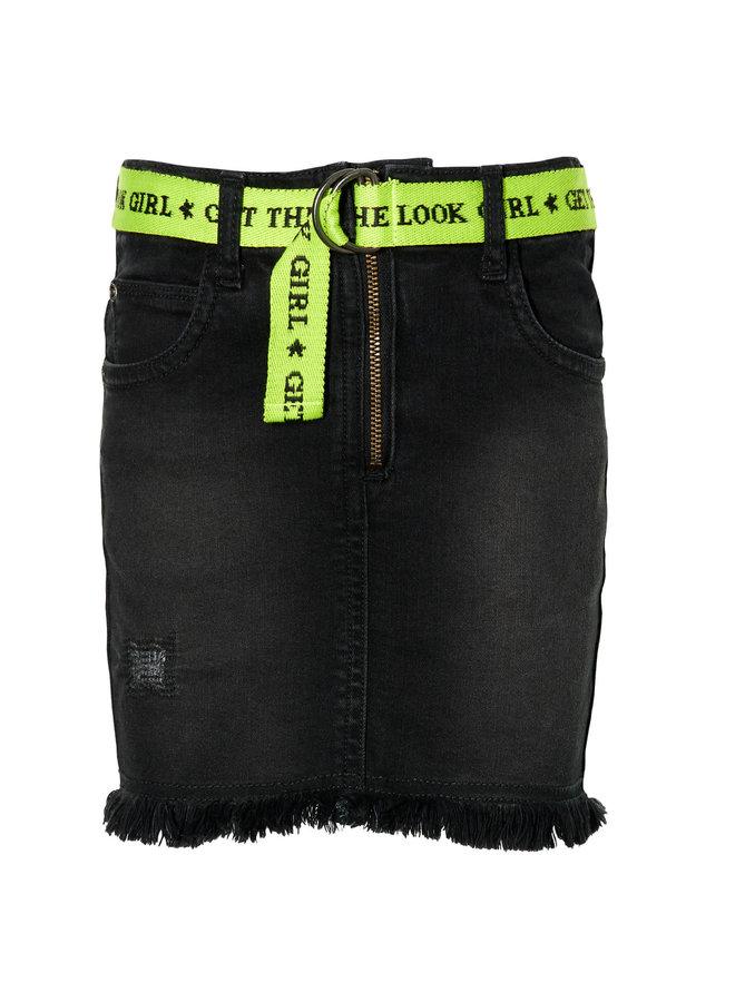 Denise - Skirt - Black Denim
