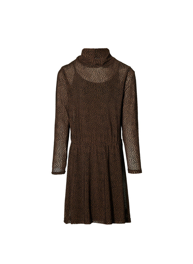 Kaitlyn - Dress - Mid Brown Dot