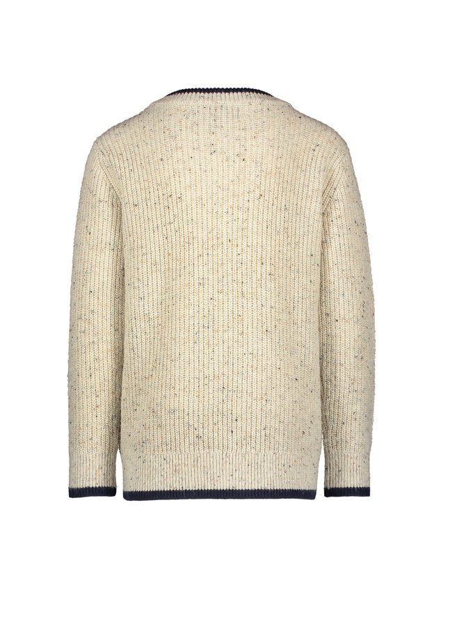 Theo - Pullover round neck -  Offwhite Melee