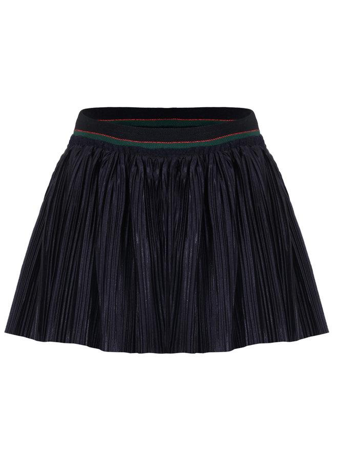 Skirt Plise Metallic - Navy
