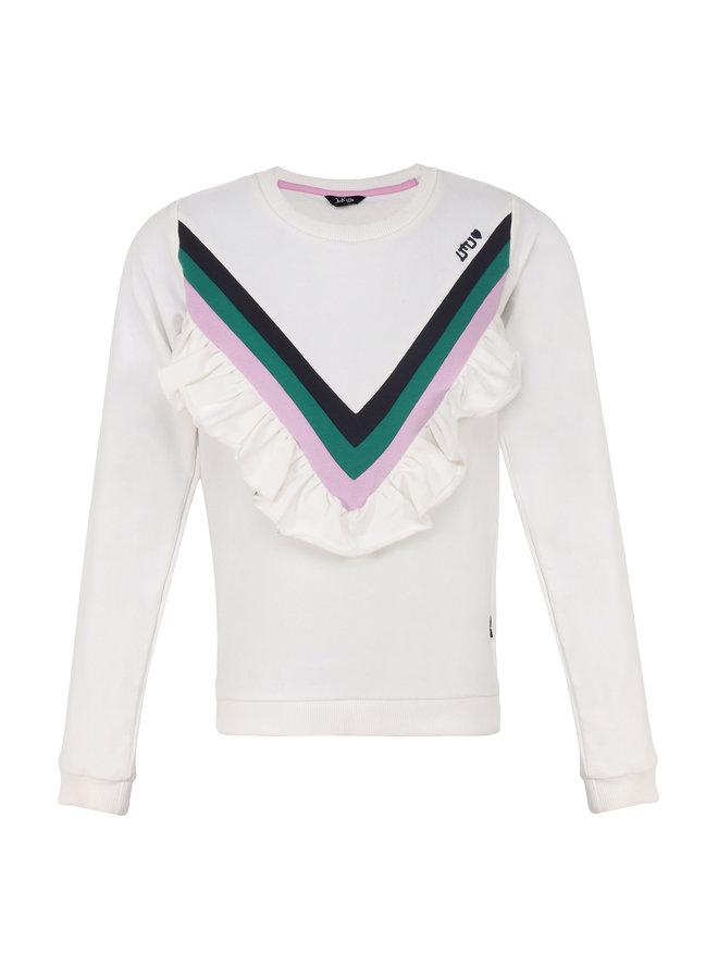 Sweater Ruffle - White