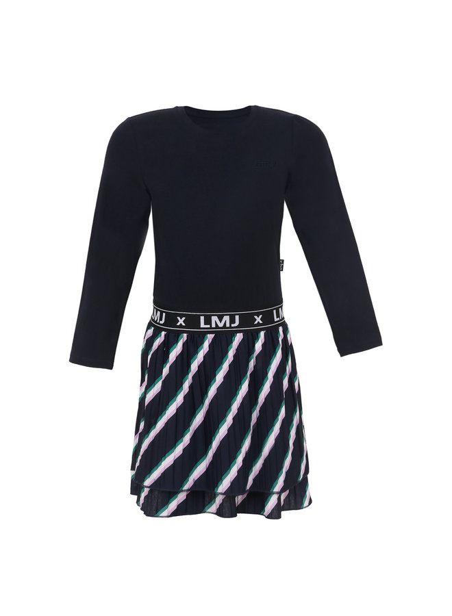 Dress Slanted Stripe - Navy