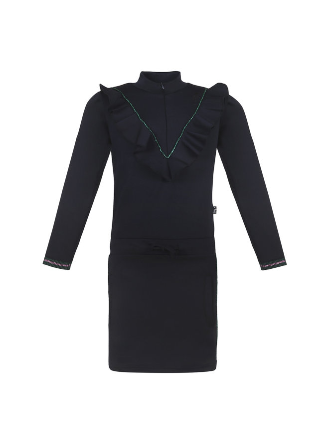 Dress Ruffle - Navy