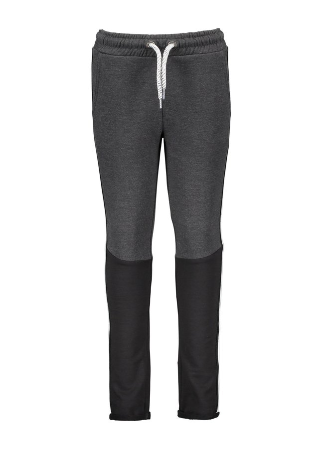 Boys - Sweat pants with melee contrast part - Black-Grey Melee