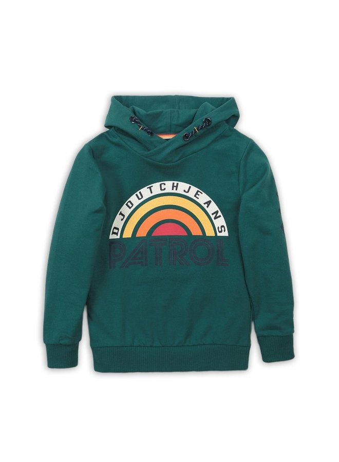 Sweater With Hood - Green