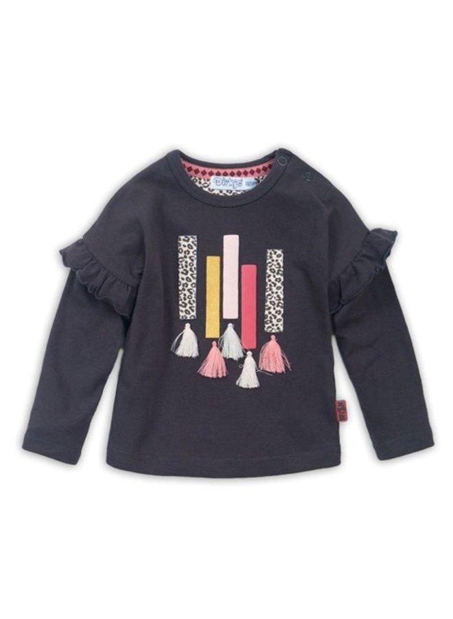 Baby T-shirt l/s - Dark Brown