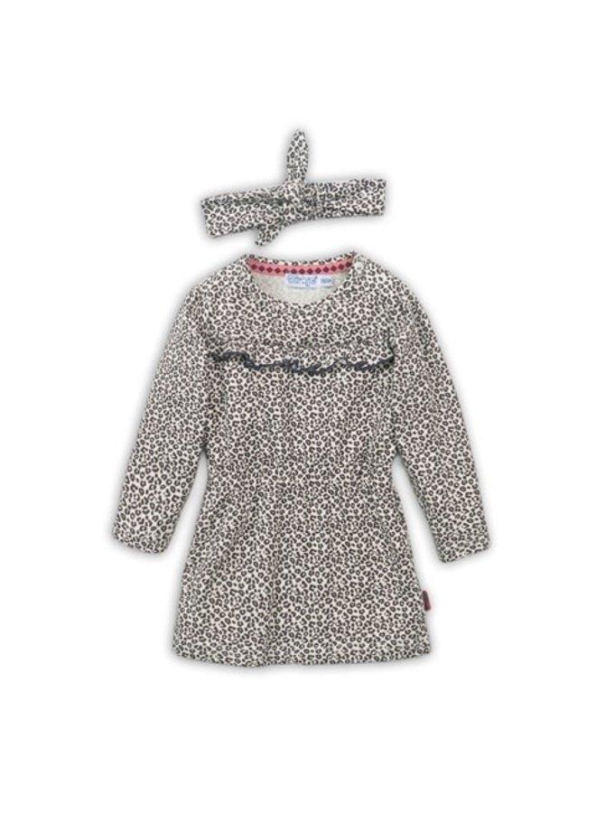 Baby Dress & Headband - Sand & AOP
